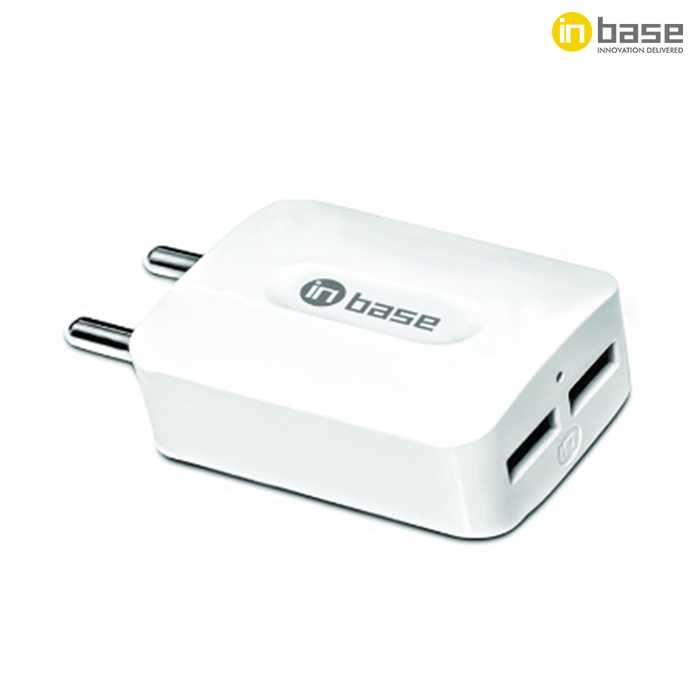 2.1A Dual USB Travel Charger with Type C Cable
