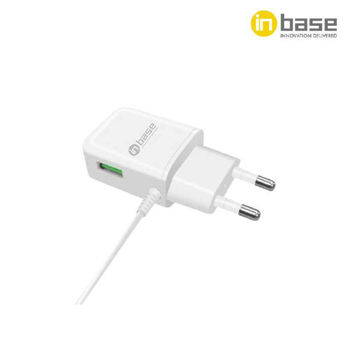 Travel Charger - 1.2A Single USB with Lightning Cable