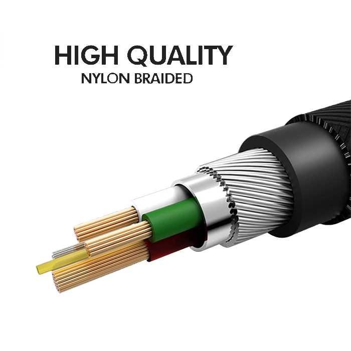 Nylon Braided  Micro Cable - 2.0M