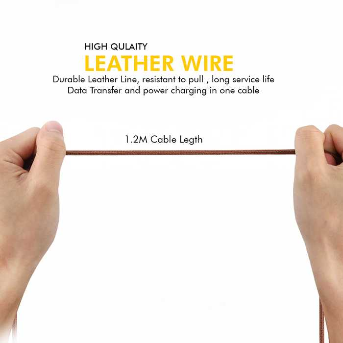 Ultra Tough Leather Series Micro Cable 1.2M