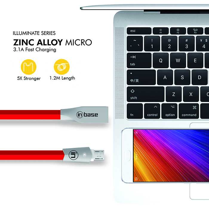 Zinc Alloy Fast Charge Micro Cable -   1.2M
