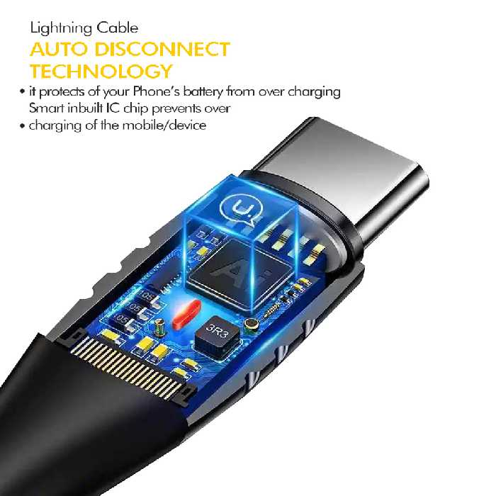Ultra Tough Auto Disconnect Series   Type C Cable - 1.2M