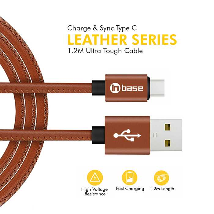 Ultra Tough Leather Series Type C Cable 1.2M