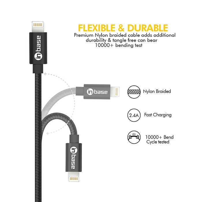 Nylon Braided Lightning Cable 1.0M