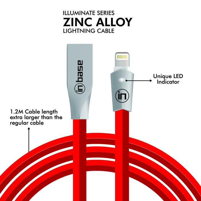 Zinc Alloy Fast Charge Lightning Cable - 1.2M
