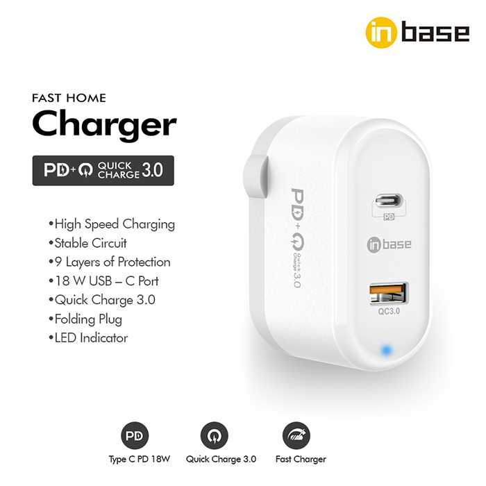 PD + QC Home Charger